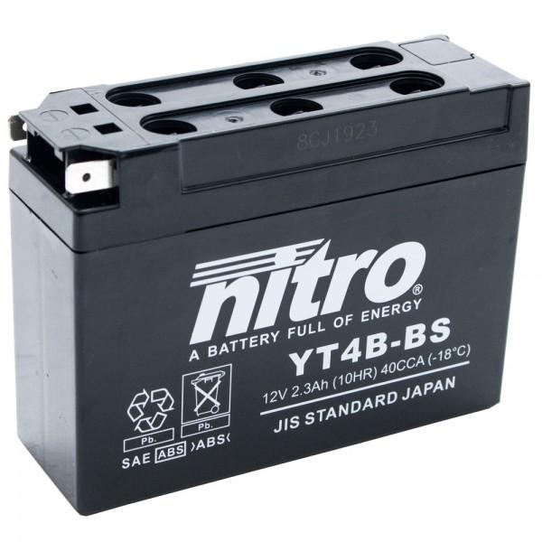 Nitro Motorradbatterie YT4B-BS 3 AH 12V  #110159